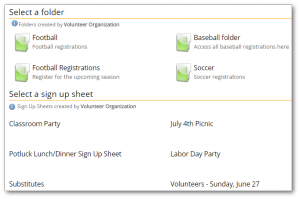 Example of TimeToSignUp sign up sheet list